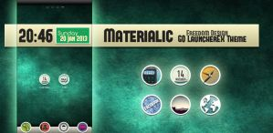 Materialic GO LauncherEX Theme by maciej-pl