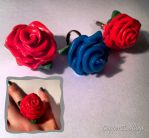 Rose jewellery by CopperAndCogs