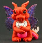 Red Valentine's Day Pixie Dragon by The-GoblinQueen