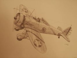 Boeing P26a Peashooter by NorthumbriaArt