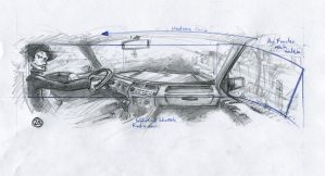 Storyboard 180 degree car pan by art-anti-de