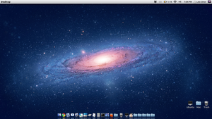 Ubuntu with Mac Lion Theme by theloonert
