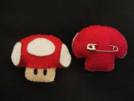 Nintendo Mushroom Pin by UnconsciousRoute