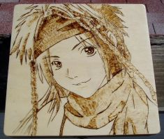 Rikku woodburning by akicafe
