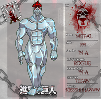 Shingeki no Kyojin OC: Metal Titan by KnightOfTheTempest