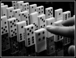 Toppling The First Domino by turkeyphant