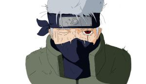 Kakashi Face (colored) by marvelnerd87