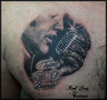 Elvis Tattoo by Reddogtattoo