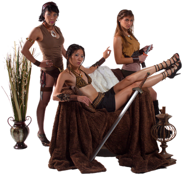 Stock - Barbarian-Amazon Women by redvideo