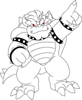 Color me: Bowser Pointing by Bowser2Queen