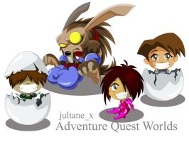 Oh my Eggsssh aqw characters by Zextine