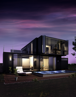 Container becomes a home by Umbs
