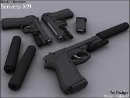 Special Operations, Beretta M9 by Exdeath