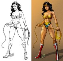 Wonder Woman lines and color by nebrag