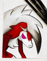 Lycanroc (Midnight Form) by TruiArts