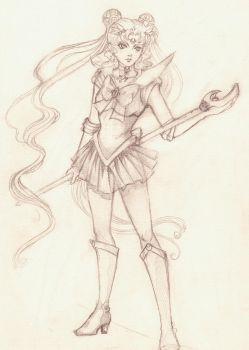 szkic_1_sailor moon by V-chanek
