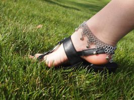 Silver Chainmaille Chime Anklet by ofmyhats
