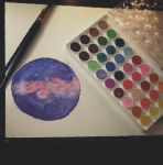 Watercolor Planet by SafetyHazard