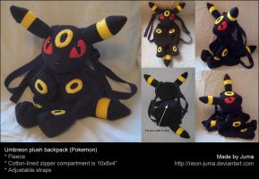 Umbreon plush backpack by Neon-Juma