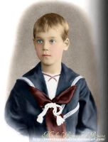 Mikhail Romanov as a child by Livadialilacs