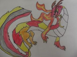 dragon by bloodfeather9875