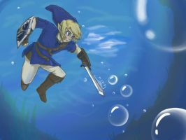 Link Underwater by wtfisalinh