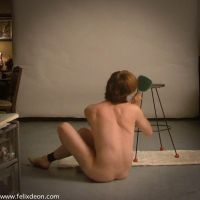 Seated Male Nude by Felixdeon