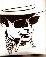 Hunter S. Thompson by styrofoamdiablo