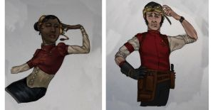 Steam Trek - Redshirts by Liquidsilk