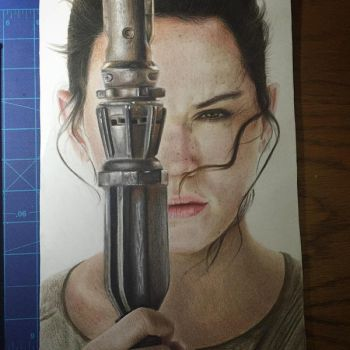 Rey (Star Wars) by Eternal--Art