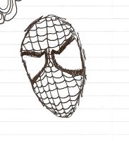 Spiderman head by Me2fly4u2c4life