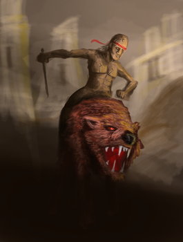 Mounted Bandit of the Wastelands by AngusTromanJewkes