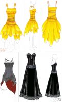 Dress designs by bluefeathers