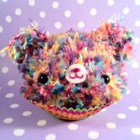 Rainbow Cupcake Bear by amigurumikingdom