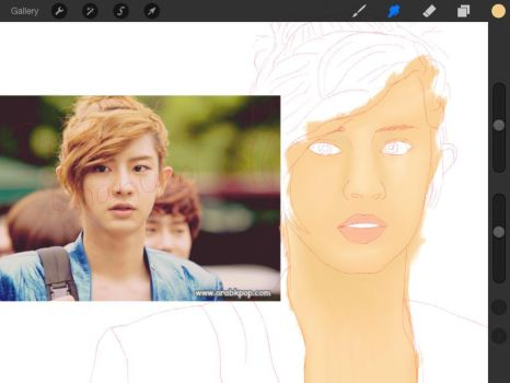 Chanyeol WIP by imagine-all-the-art