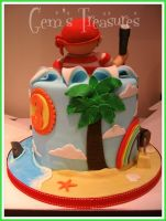 Colourful Pirate Cake by gertygetsgangster