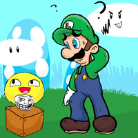 luigi and the trollawsome shroom! by TakeoTheSavage