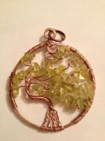 peridot tree of life by zella-de-venus