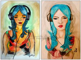 Blue Hair Day SidebySide by Doubtful-Della