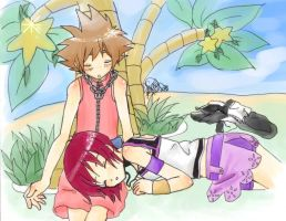 Sora and Kairi KH1 by x3rikku