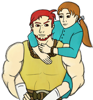 Dorcas carrying Natalie (FE7) by ABACC15