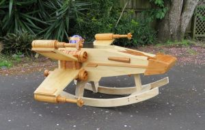 Rocking Ride-in Spaceship by StevesWoodenToys