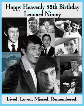 Happy Heavenly 85th Leonard Nimoy by Therese-B