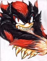 Shadow The Werehog by Mindless-Corporation