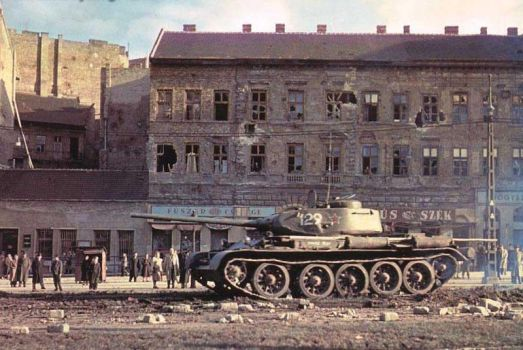 T-44A: Budapest, Hungarian Revolution of 1956 by withinamnesia