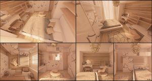 Girl bedroom for a friend by lucamarin