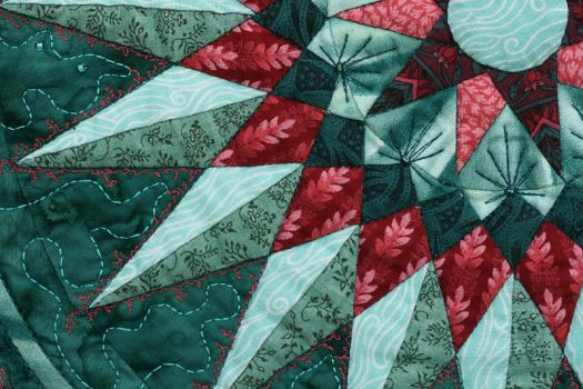 Detail II - Lily Pond by suedollinQuilts