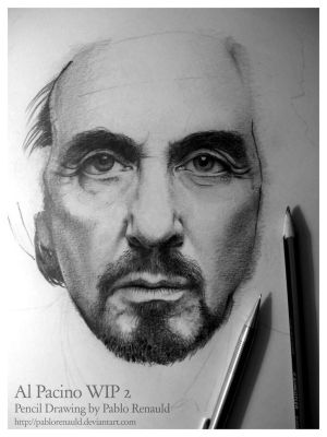 Al Pacino in process by pablorenauld