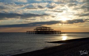 West Pier at Sunset by richardsim7
