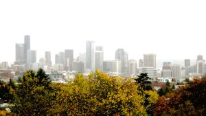 Seattle in the Fog by skipsmagee